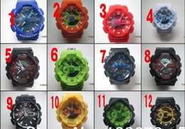 Wholesale Cheap White Silicone Watches - CHINA 2017 BIG CASE cheap Candy quartz children plastic LED Swimming GA-110 men sport Camouflage watches Classic S Shock denim men watch