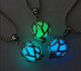 Wholesale Glow Lockets - Hot Fashion Unisex's Men Magic Fairy Glow In The Dark Football Locket Pendant Necklace Jewelry