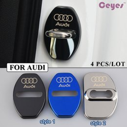 Wholesale Car Styling Stickers - Car door lock cover case for Audi A3 A4 A5 A6 B6 B7 B8 C5 C6 Q7 Car Styling
