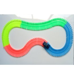 Wholesale Racing Toys - 220 Piece Racing Track Hockey Bend Flex Luminous In The Dark Assembly Toy Set Educational for Children Boys