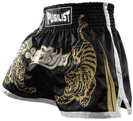 2019 mens elástico cintura boardshorts Produtos de qualidade-Tigre PUGILIST MMA curto HÍBRIDO KICKBOXING MUAY SHORTS TAILANDÊS LUTA SHORTS Muay Thai Boxing shorts-Preto