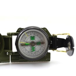 Wholesale Green Military Lensatic Compass - 40PCS Green Classic Military Style Marching Army Hiking Camping Outdoor Camping Lensatic Lens Compass Survival Marching Metal 0001