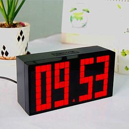 Wholesale Countdown Timer Led Display - Multifuntional Large Big LED Jumbo Alarm Wall Clock Table desktop Display Digital Table Calendar Weather Countdown Timer Clocks temperature
