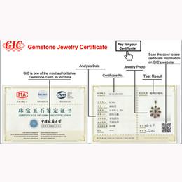 cajas de regalo de satén al por mayor Rebajas Certificado de joyería de piedras preciosas GIC