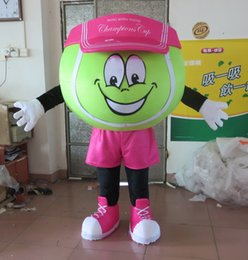 Wholesale Tennis Ball Mascot Costumes - High Quality Tennis Prince Ball Mascot Costume Fancy Party Dress Halloween Costumes Adult Size free shipping