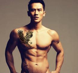 Alheña negra grandes pegatinas de tinta de tatuaje diseños de águila hombres mujeres flash tatoo temporal para el pecho del brazo desde fabricantes
