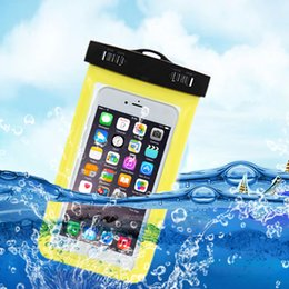 Wholesale Waterproof Case Swimming - For Iphone 8 6 7 7 plus Swim Cover Pouch Bag Watertight Cover For Samsung Huawei Full Protect Bag Universal Touch Waterproof Case
