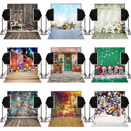 Wholesale Christmas Props For Baby Photography - 5x7FT merry christmas wood house decor photo background for newborn photography studio digital vinyl backdrops camera fotografica baby props