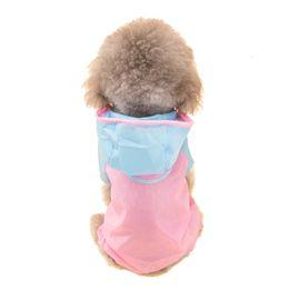 Wholesale Pink Dog Coat Xxl - Hipidog Pet Apparel Dog Clothes Raincoat Pet Jacket Rain Pet Hooded Waterproof Coat Poncho Teddy Raincoat Jumpsuit S M L XL XXL