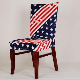 2019 material de hoja Spandex Stretch Dining Chair Cover Lavable Restaurante Cubiertas de sillas Bodas Banquete Plegable Hotel Silla Cubiertas