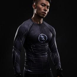 Wholesale Sleeve Flash - Mens anime Flash Barry Alan 3D print short sleeve T-shirt Compression Shirt Mens CrossFit fitness long sleeve T-shirt brand clothing flash