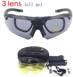 Wholesale Tactical Glasses Ess - ESS CROSSBOW Tr90 Military Goggles 3 5 lens Polarized Sunglasses Bullet-proof Army tactical Glasses shooting Eyewear
