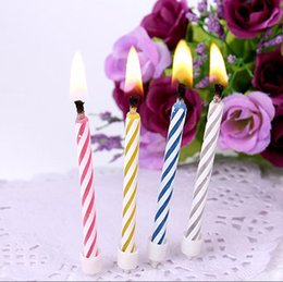 Wholesale Funny Candles - 10 Pcs Magic Relighting Candles Funny Tricky Toy Birthday Eternal Blowing Candles Party Joke Birthday Cake Decors