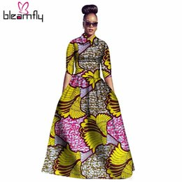 Wholesale Ethnic Print Skirts - Two Piece Set Dashiki Style 2017 Crop Top And Skirt Floral Print African Custom Clothing Women Ethnic Traditional Suit bazin