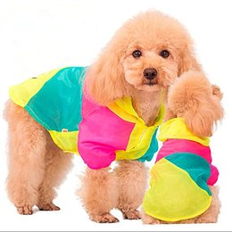 Wholesale wholesaler teddy jacket - The dog sunscreen clothing thin soft sunscreen sunscreen clothing color matching pet mosquito Teddy VIP Bichon spring and summer clothes