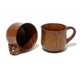 Wholesale Jujube Wholesale - Zizyphus Jujube Wooden Cup Boutique Retro Handmade Korean Wood Mug Restaurant Tea Coffee Cups Best Gift Drinking Drinkware ZA1652