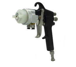 Wholesale Double Nozzle Gun - Chrome Dual nozzle sprayer gun New painter double nozzle spray gun for chrome and silver mirror painting free DHL shipping