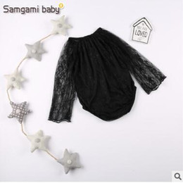 Wholesale Baby Bodies Long Sleeve - Lace Romper 2017 Newest Long Sleeve Lace Baby Onesies Body Suit Baby Girl Rompers Toddler Outfit Infant Outwear Bodysuit Baby Clothes 93