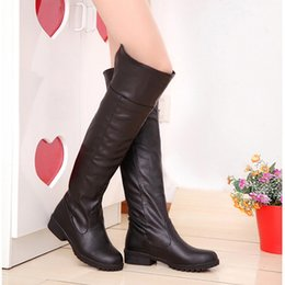Wholesale Leather Boots Direct - New arrival women over the knee boots kitten heels big size winter boots lady casual shoes factory direct