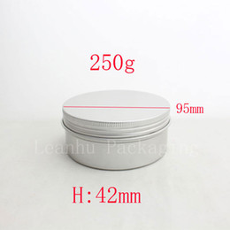 Wholesale Cosmetic Tin Cans Wholesale - 250g empty aluminum metal tin cans with lids ,round aluminum containers ,empty cosmetic containers,metal cream container box