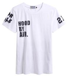 Wholesale hba hood air women - fashion Printed tshirts stree t shirt Hood By Air HBA X Been Trill Kanye West Cotton short-sleeve Women Men Tee Hip-Hop Shirts