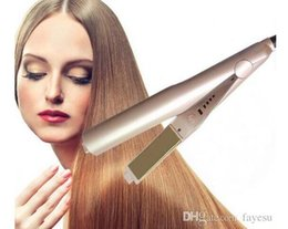 Wholesale Wholesale Dry Iron - Wholesale US UK AU Plug Gold Plated Titanium Plates Irons Fast Ceramic Hair Curler Styling Tools TYME Hair Straighteners Irons Top Quality.