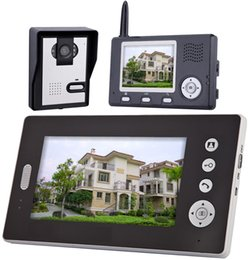 Wholesale Wired Video Intercom - 2.4Ghz Wireless Two Way Intercom Video Door Phone With 3.5inch and 7 Inch Monitor