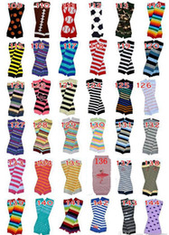 Wholesale Halloween Leg Warmer - 6Pairs Retail Price Baby Chevron Leg Warmer Children Christmas infant leggings Tights Halloween Pumpkin Skull Leg Warmers Adult Arm warmers