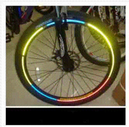 Wholesale Decal Stickers For Motorcycles Rims - 8pcs Strips 21x0.8cm Reflective Tape Car Styling Rim Wheel Tire DIY Decoration Decal for Automobile Bicycle Motorcycle Sticker