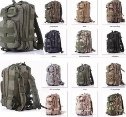 Wholesale 12 Compartment Wholesale - NEW High Quality 30L Hiking Camping Bag Military Tactical Trekking Rucksack Backpack Camouflage Molle Rucksacks Attack Backpacks 12 colors