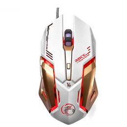 Wholesale Custom Laptops - iMice V8 Professional Custom Program Wired Gaming Mouse 4000DPI 6Button LED Optical Computer Game Mouse Mice Gamer For PC Laptop