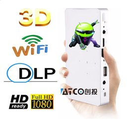 Wholesale Video Projector Prices - Wholesale-Wholesale Price Newest 3LED DLP mini pocket pico led video game Android projector, best mobile projector with miracast DLNA