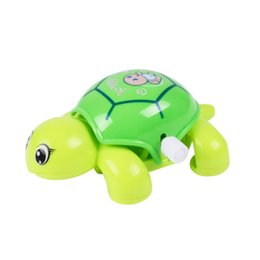 Wholesale Baby Tortoise - Wholesale- 1pcs Baby Toys Mini Clockwork Tortoise Children Cute Animal Turtle Toys Baby Wind Up Toys