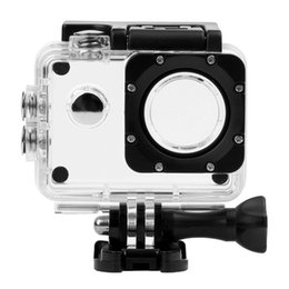 Wholesale Camera For Helmets - Wholesale- SJ4000 Waterproof Case Diving 30M Underwater Housing for SJ4000   SJ 4000 WiFi Camera Extreme Helmet Cam G-Senor Camcorder