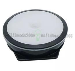 Wholesale Wireless Motion Sensor Switch - NEW Rechargeable 6LEDs Motion Sensor Night Light White Warm White Switch Wireless Closet Light for Cabinet Pantry Counter MYY