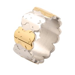 Wholesale Quality Rings - TL stainlee steel bear ring original design godd quality never fade for women brand jewelry 2017