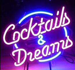 Wholesale dreams real - New HIGH LIFE Neon Beer Sign Bar Sign Real Glass Neon Light Beer Sign New Cocktails And Dreams Beer Neon 17x14