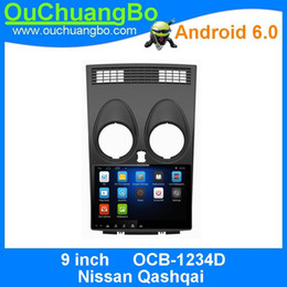 Wholesale Android Navi Bluetooth - Ouchuangbo car audio gps navi autoradio for Nissan Qashqai support dual zone 3G WIFI android 6.0 OS