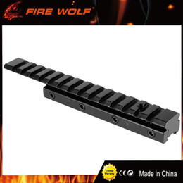Wholesale Extended Mounts - FFIRE WOLF Dovetail Weaver Picatinny Rail Adapter 11mm to 20mm 21mm Tactical Scope Extend Mount for Hunting