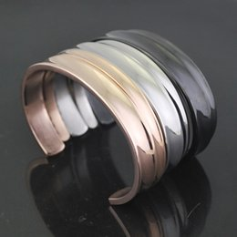 Wholesale bracelets for america - Europe and America Hot Selling Concave Curvature Of The Opening Couple Bracelet Ladies Titanium Steel Bracelet Jewelry Gift For Men Women