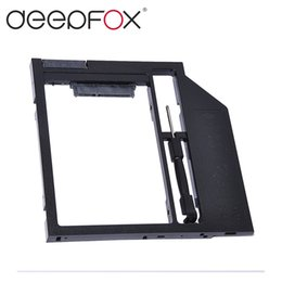 """Wholesale Disk Dvd - Wholesale- Universal Plastic 9mm 2nd HDD Caddy Hard Disk Drive Enclosure 2.5"""" SSD HDD Case For Laptop 9mm 9.5mm DVD CD-ROM Optical Bay"""