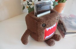 Wholesale Kawaii Desk - Wholesale- 1X Kawaii Plush Stuffed TOY DOMO DOLL Stand Holder Pouch Case RACK DOLL ; School Desk Sundries Pen Pencil Holder BOX Rack