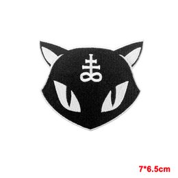 Wholesale Gothic Clothing Wholesale - NEW ARRIVE Killstar Gothic Goth Lucipurr Iron SEW On Embroidered Patch Evil Cat Kitten