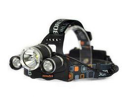 Wholesale Bright Headlights Cars - Headlamp Boruit 5000 Lumen Super Bright 3X CREE XML T6 LED Headlamp Headlight 18650 LED Head Light Lamp + Charger +Car Charger
