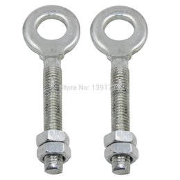"Wholesale Atv Chains - 1 Pair 0.4"" Chain Axle Adjuster And Nuts For 50 70 90 110 125 cc ATV Dirt Bike Quad Go Kart TAOTAO Silvery Free Shipping"