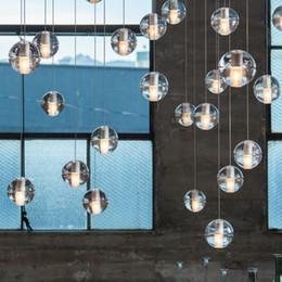 Wholesale Glass Led Shower Heads - Restaurant stair bar club hotel bar cafes droplight leds 3-36 head crystal glass ball meteor shower droplight 5 years warranty