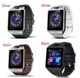 Wholesale Wrist Watch Retail - DZ09 Smart Watch Dz09 Watches Wrisbrand Android iPhone Watch Smart SIM Intelligent Mobile Phone Sleep State Smart watch Retail Package