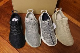Wholesale Womens Shoes Oxfords - (Box+sock) 2017 Kanye West Boost 350 Pirate Black Turtle Dove Moonrock Oxford TanTurtle Dove White Men Womens Senakers Running Shoes