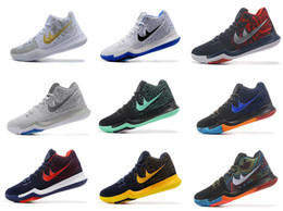 Wholesale Cheapest Basketball Sneakers - Cheapest Drop Shipping Wholesale Famous Kyrie 3 III Mens Sports Basketball Shoes Sneakers Size 40-46