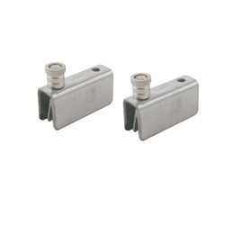 Wholesale Wholesale Door Hinge - 2pcs 41mm 52mm 70mm length Silver Tone Stainless Steel Fit For 5-10mm Glass Thickness Bathroom Shower Showbox Cupboard Glass Door Hinge